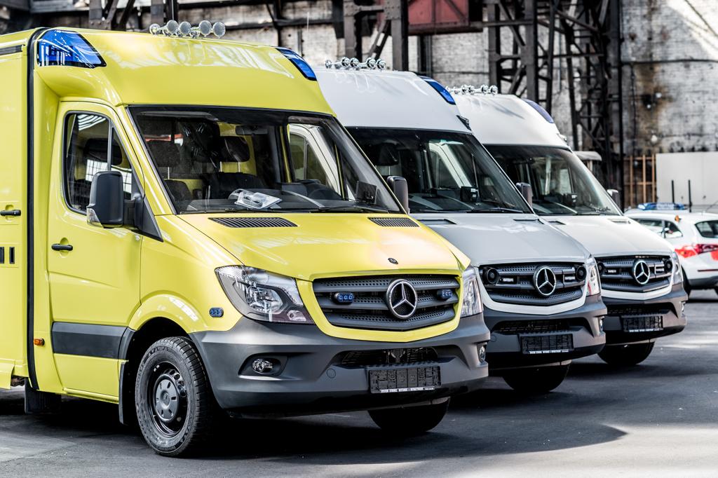 Unternehmens-Fotografie Strobel Rettungswagen Produktion