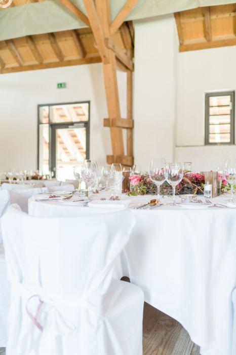 Hochzeits-Reportage Tischdekoration