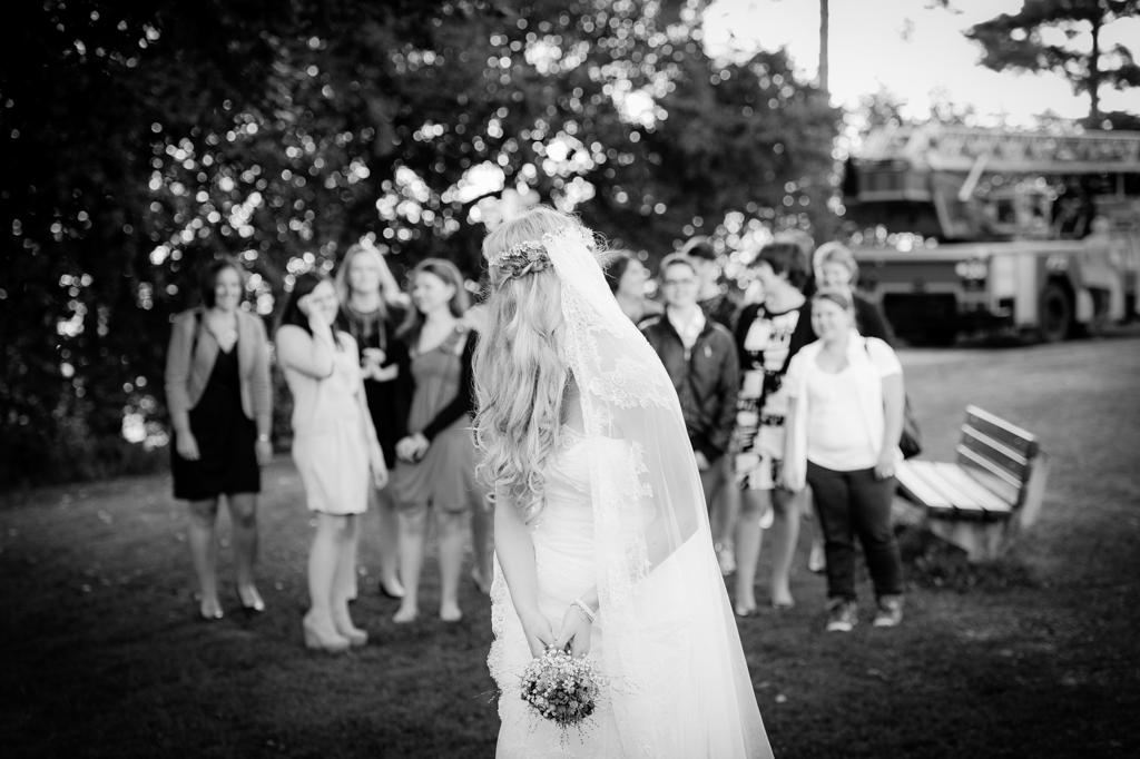Hochzeits-Fotografie Brautstraußwurf