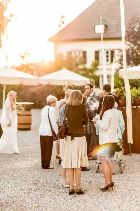 Hochzeits-Fotografie Hofgut Hohenstein Sektempfang