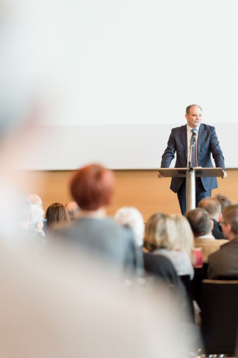 Eventfotografie Messe Keynote Speaker