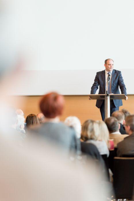 Eventfotografie Messe Keynote Speaker
