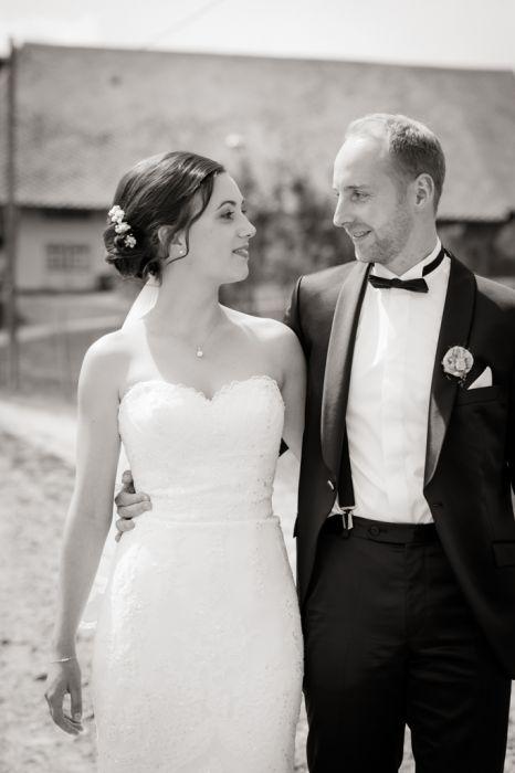 Brautpaar-Portrait Schwarz-/Weiß