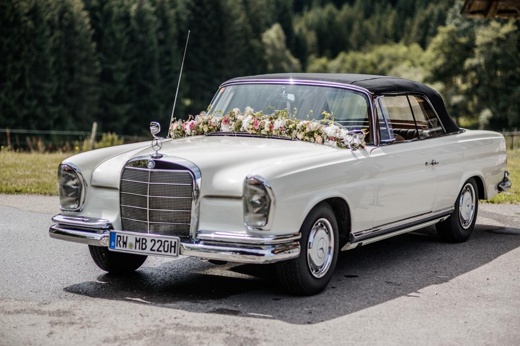 Fotografie Hochzeitsauto Mercedes
